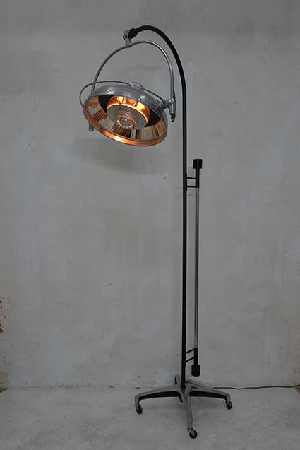 Lampe scialytique, haut. 2,10m, variateur
